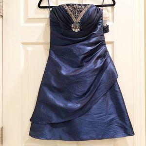 Jump Apparel NWT Embellished Blue Formal Dress 3/4